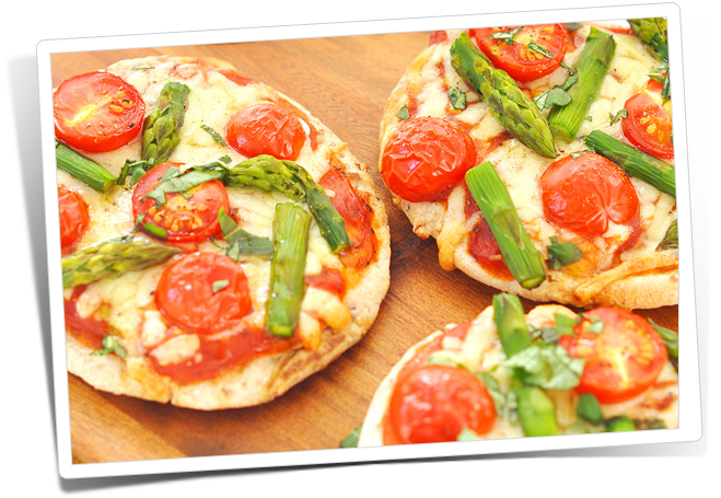 Mini Pizzas Vegetarianas